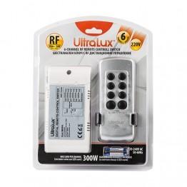 Шестканален ключ с RF дистанционно управление, 220V