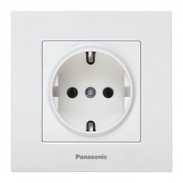 Panasonic Каре Плюс Бяло Кoнтакт Единичен