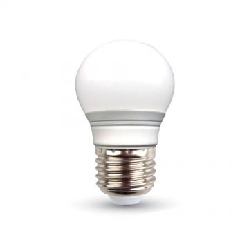 LED Крушка - 3W E27 G45 Неутрално Бяла Светлина