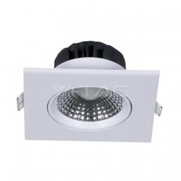 5W LED Downlight Square Changing Angle White Body Natural White