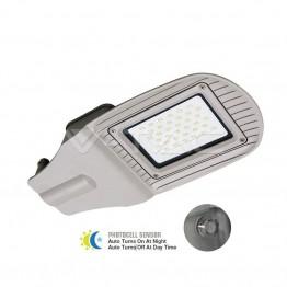 30W SMD Улична Лампа Със Сензор Сиво Тяло Бяла Светлина