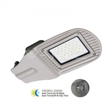 30W SMD Улична Лампа Със Сензор Сиво Тяло Неутрална Светлина