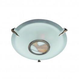 Плафон Tiffany За интериорно Осветление Изработен От  Метал и Стъкло
