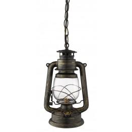 Винтидж Пендел Lanterns Изработен От  Метал и Стъкло