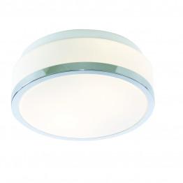 Плафон За Баня Bathroom Lights Изработен От  Метал и Стъкло