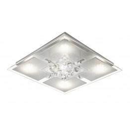 RGB LED плафон ROMINA Изработен от  Метал и стъкло