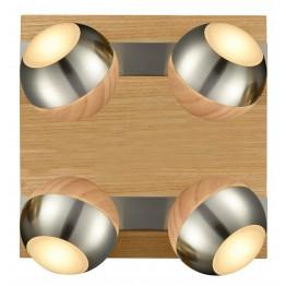 Дизайнерски LED спот от дърво VERUS Изработен от  Метал и дърво и акрил