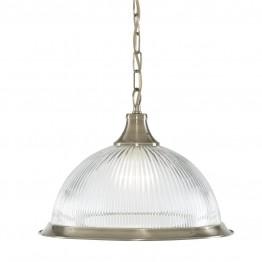 Пендел С Класически Дизайн American Diner Изработен От  Метал и Стъкло