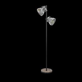 BARNSTAPLE 49722eglo лампион от дърво - кафяв, черен