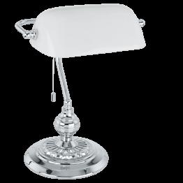 BANKER 90968eglo настолна лампа от стомана - сив
