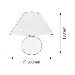 E14 Настолна лампа Ariel 4901rab