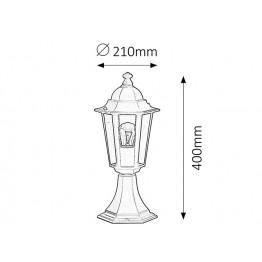 Градинска влагозащитена лампа Velence 8206rab