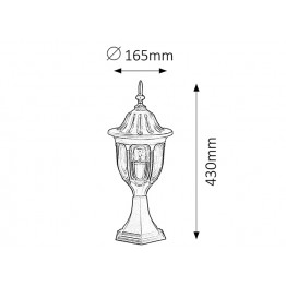 Влагозащитена градинска лампа Milano 8343rab
