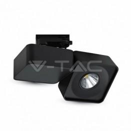 23W LED Прожектор Релсов Монтаж черно Тяло Квадрат Бяла Светлина