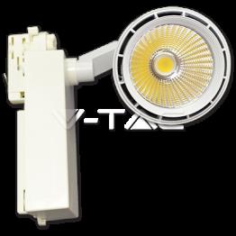 33W LED Прожектор Релсов Монтаж Бяло Тяло Неутрално Бяла Светлина