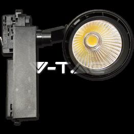 33W LED Прожектор Релсов Монтаж черно Тяло Неутрално Бяла Светлина