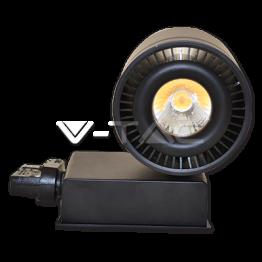 33W LED COB CRI>95 Прожектор Релсов Монтаж черно Тяло Бяла Светлина