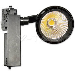 33W LED Прожектор Релсов Монтаж Бяло Тяло Топло Бяла Светлина
