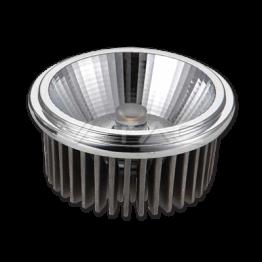 LED Крушка - AR111 20W 12V 20Градуса COB Chip Топло Бяла Светлина