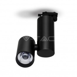 30W LED Track Light Black Body Warm White