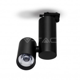30W LED Track Light Black Body Natural White