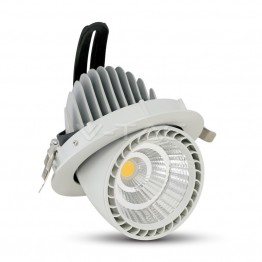 33W LED Zoom Fitting Downlight Round Warm White