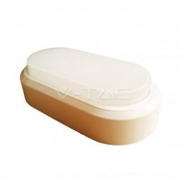 8W Плафониера Правоъгълен Овал Бяло Тяло Топло Бяла Светлина IP54