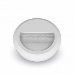 2W LED Осветление За Стъпала Бяло Тяло Кръг Топло Бяла Светлина