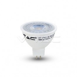 LED Крушка - 7W MR16 12V Пластик Топло Бяла Светлина