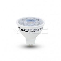 LED Крушка - 7W MR16 12V Пластик Бяла Светлина