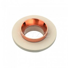 GU10 Fitting Concrete Metal Off White Recessed Light With Matt Rose Gold Round