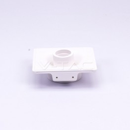 GU10 Fitting Gypsum Designer Ceiling Movable With White Bottom Square