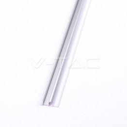 Aluminum Profil 2000 x 23 x 15.5mm Milky