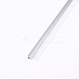 Aluminum Profil 2000 x 15.8 x 15.8mm Milky