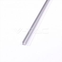 Aluminum Profil 2000 x 17.2 x 15.5mm Milky