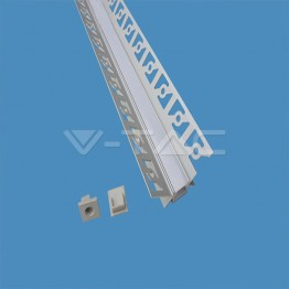 Aluminum Profile Set Milky Gypsum Inner Corner 2000mm