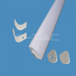 Aluminum Profile Set Milky Gypsum Corner Round 2000mm