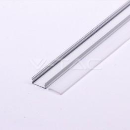 Aluminum Profile 2m 23.5 x 10 mm White Housing