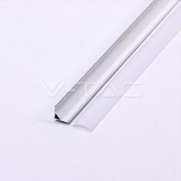 Aluminum Profile 2m 15.8 x 15.8 mm White Housing
