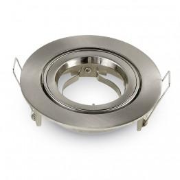 GU10 Fitting Round Satin Nickel