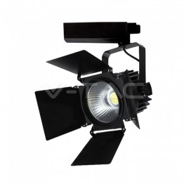 33W LED Прожектор Релсов Монтаж SAMSUNG CHIP Черен 3000K