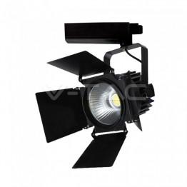 33W LED Прожектор Релсов Монтаж SAMSUNG CHIP Черен 4000K