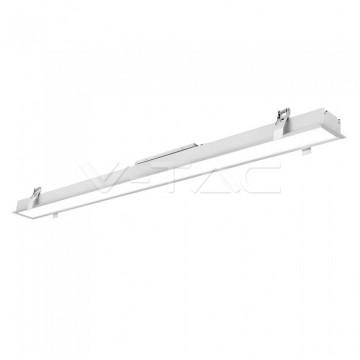 LED Линейно Осветление SAMSUNG Чип - 40W За Вграждане Бяло Тяло 4000K Ш: 90мм