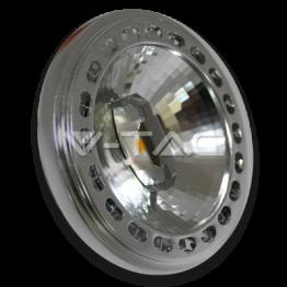 LED Крушка - AR111 15W 12V 20Градуса COB Chip Топло Бяла Светлина
