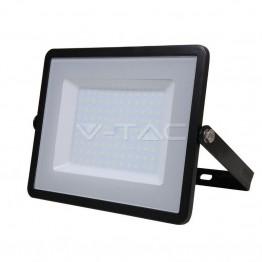 100W LED Прожектор SAMSUNG ЧИП SMD Черно Тяло Топло Бяла Светлина