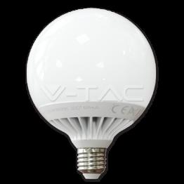 LED Крушка - 13W E27 G120 Глобус Термо Пластик Бяла Светлина