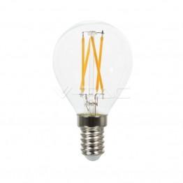 LED Крушка - 4W Filament E14 P45 Кръстосан Топло Бяла Светлина
