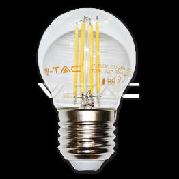 LED Крушка - 4W Filament E27 G45 Топло Бяла Светлина