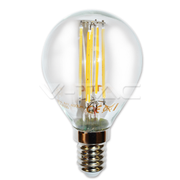 LED Крушка - 4W Filament E14 P45 Бяла Светлина