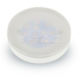 LED Крушка - 7W GX53 Пластик Бяла Светлина